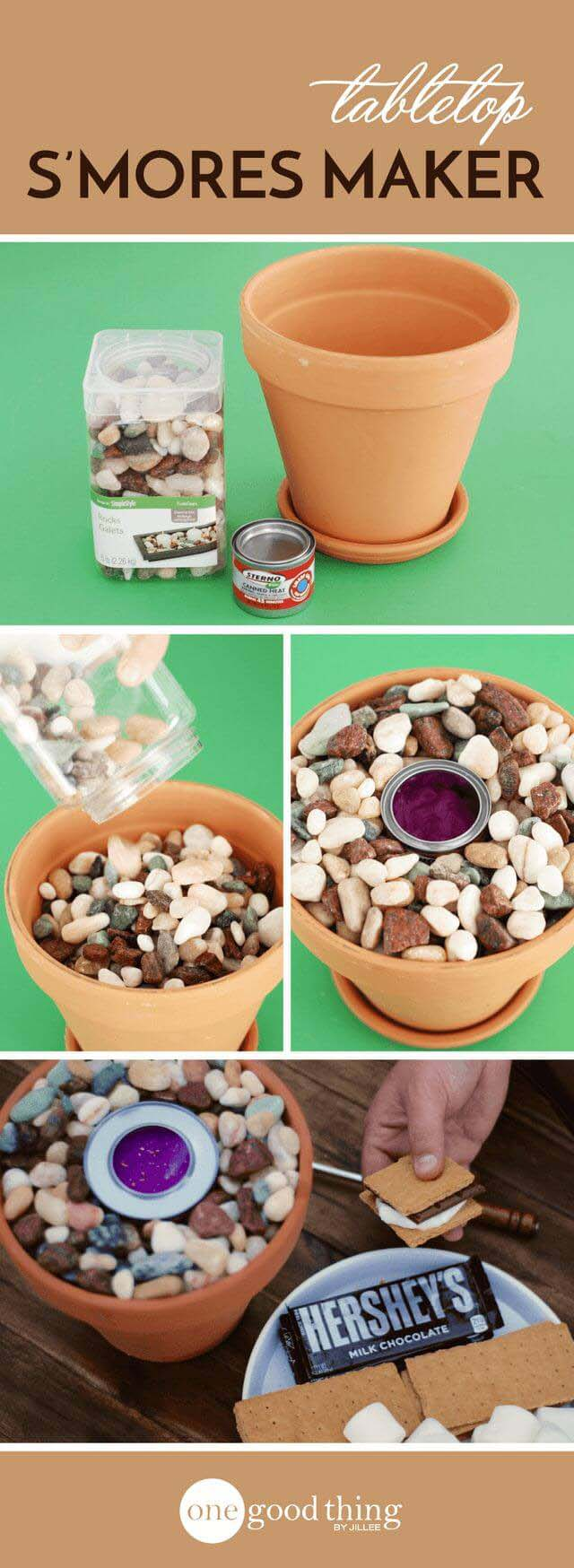 Make a Tiny Fire Pit for S'mores #flowerpot #clay #garden #decorhomeideas