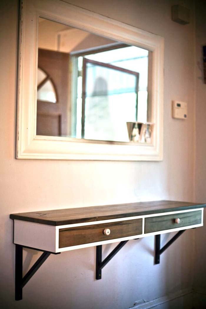 Midtown Mod Wooden Entry Table #entry #table #decorhomeideas