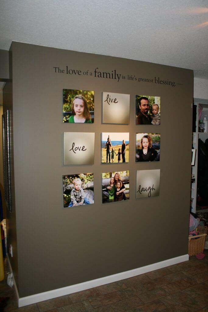 Powerful Message from Mixing Words and Images #wall #gallery #decor #decorhomeideas