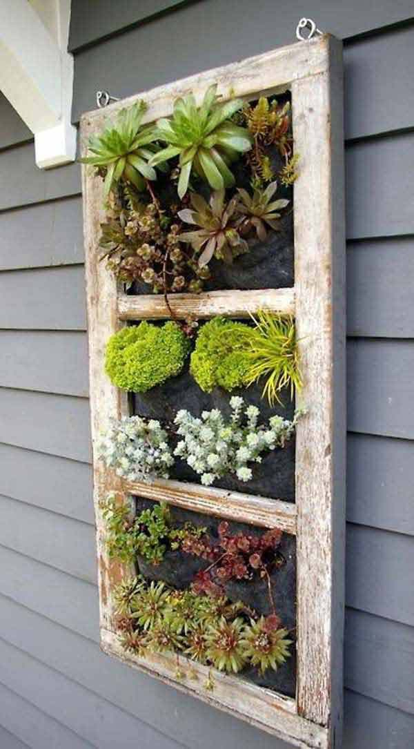 Old Window Into Succulent Garden #old #window #garden #decorhomeideas