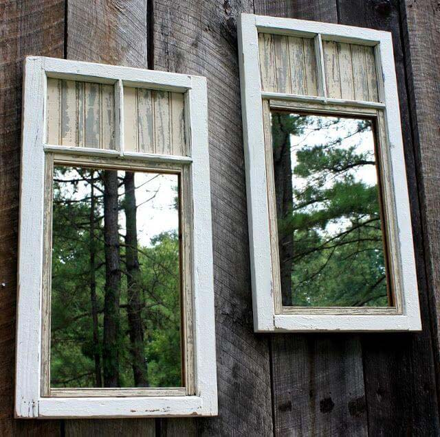 Old Window Mirror Garden Decor #old #window #garden #decorhomeideas