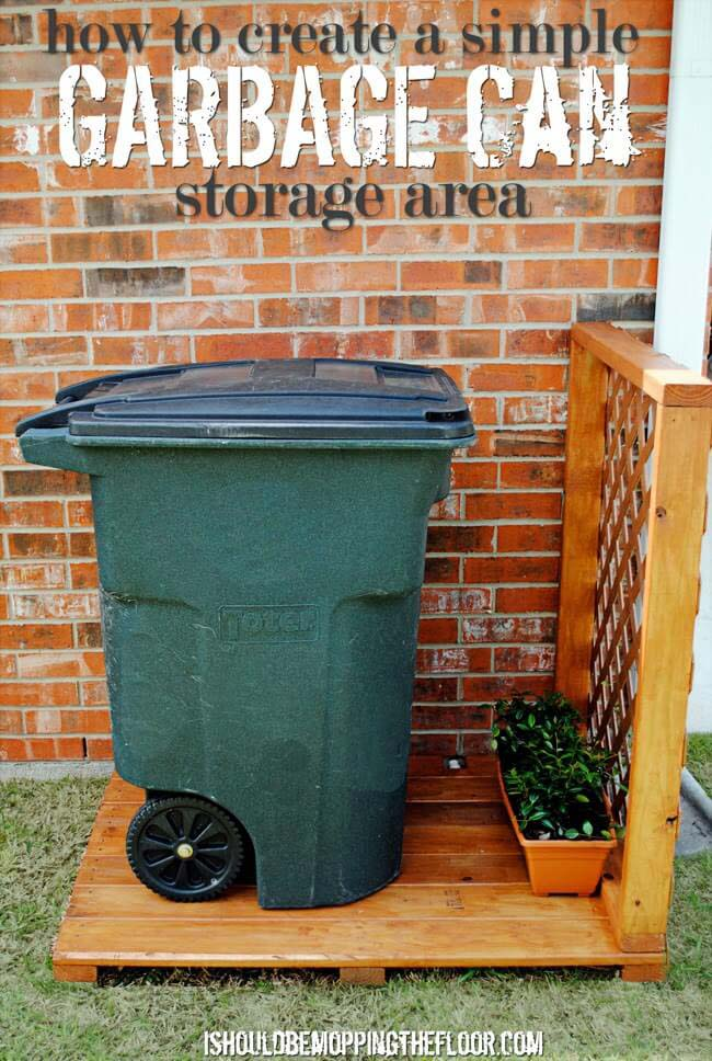 Outdoor Garbage Can Storage #outdoor #hiding #ideas #decorhomeideas