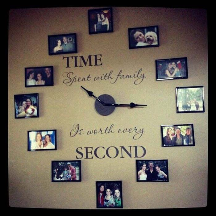 Oversized Wall Clock from Candid Photos #wall #gallery #decor #decorhomeideas