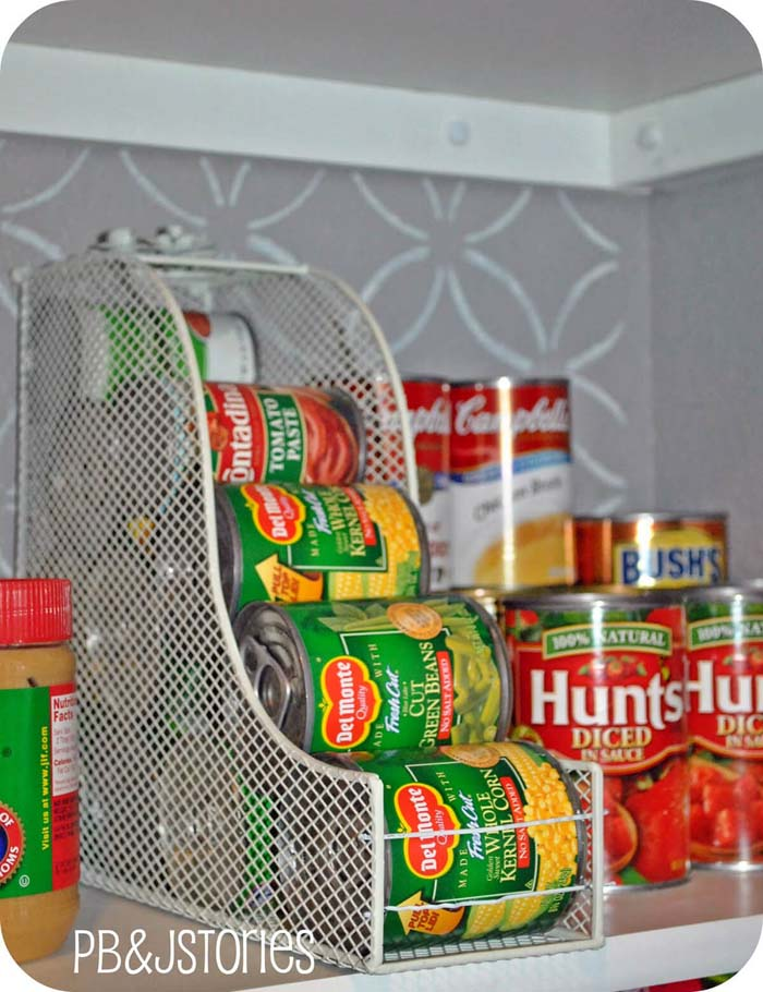 Pantry Organization Ideas with Rolling Cans #pantry #storage #organization #decorhomeideas