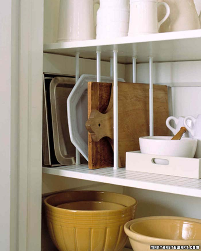 Plate Racks for Cutting Boards #pantry #storage #organization #decorhomeideas