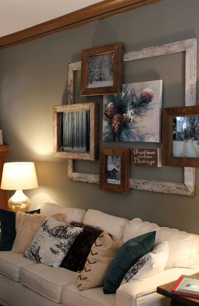 Rustic Parlor Style Picture Frames #wall #decor #sofa #decorhomeideas
