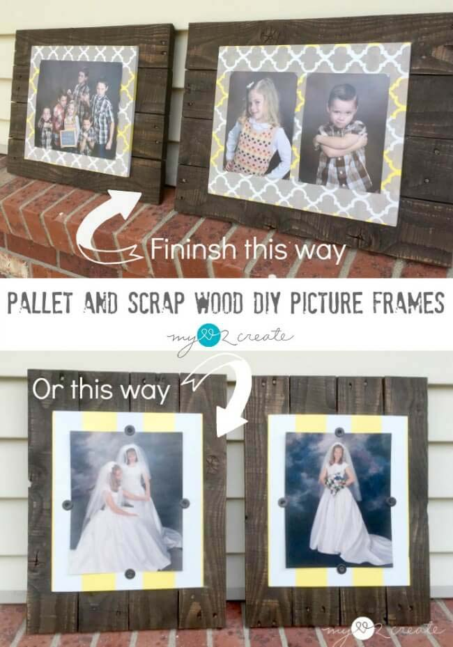 Scrap Wood Picture Frames #reclaimed #wood #projects #decorhomeideas