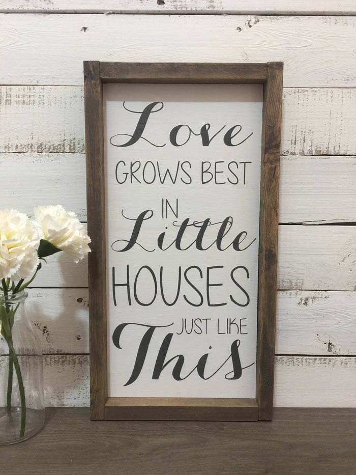 Scripted Sign to Show Your Love #farmhouse #sign #decorhomeideas