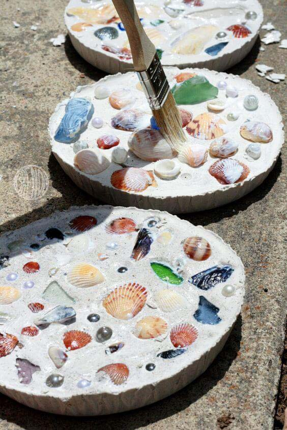 Sea Shell Mosaics #diy #seashell #decor #decorhomeideas