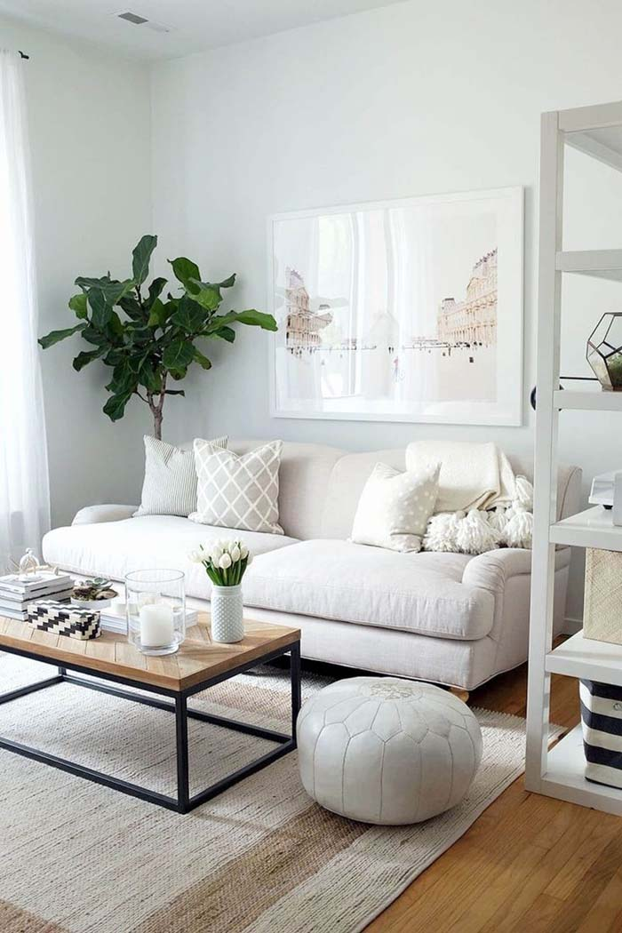 Serene Small Living Room Decor Idea #livingroom #design #decorhomeideas