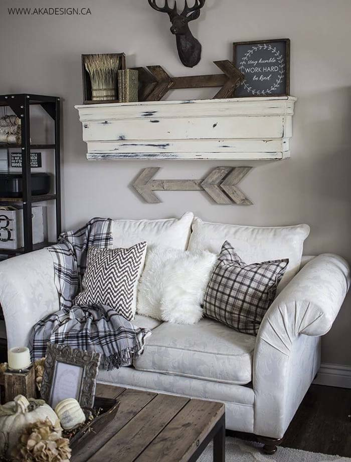 Shabby Chic Hunting Lodge Wall Mount #wall #decor #sofa #decorhomeideas