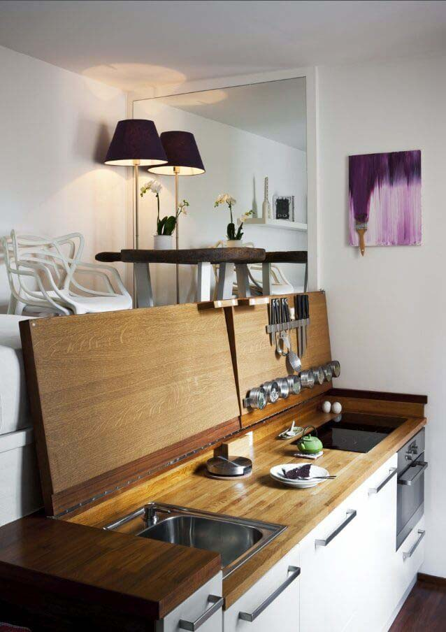 Tiny Hideaway Kitchen for Small Apartments #hideaway #projects #decorhomeideas