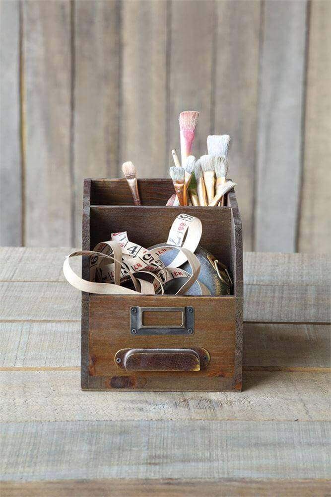 Upcycled Card And Paper Holders #farmhouse #vintage #storage #decorhomeideas