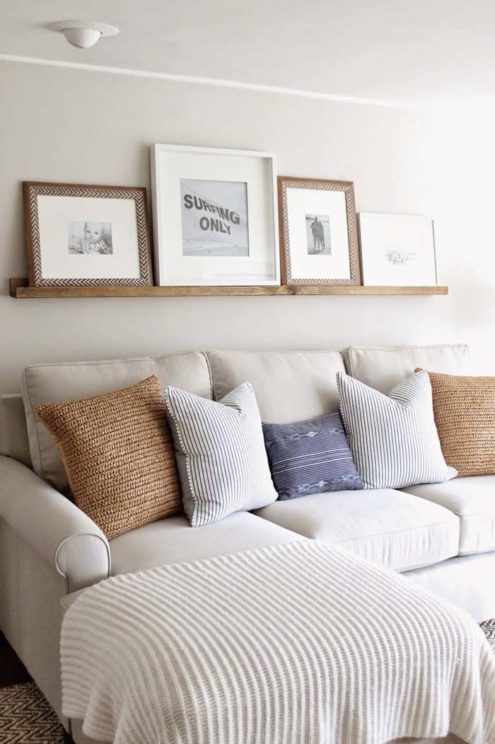 White Sands Simple Wooden Shelf #wall #decor #sofa #decorhomeideas