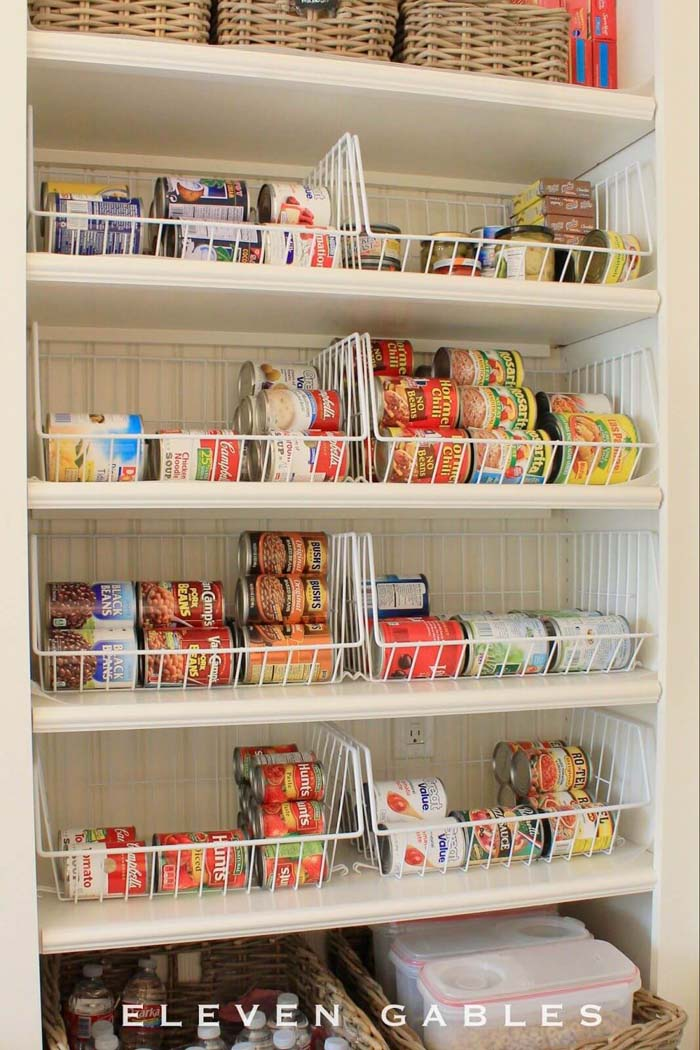 Wire Bins for All Your Cans #pantry #storage #organization #decorhomeideas