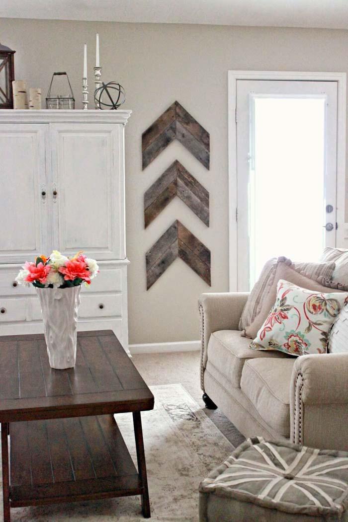 DIY Wooden Arrows Wall Decor #reclaimed #wood #projects #decorhomeideas