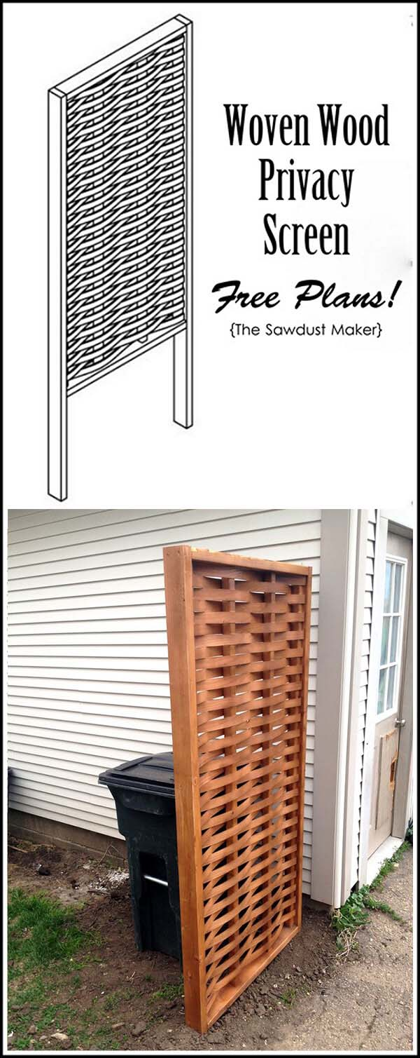 Wooden Privacy Screen #outdoor #hiding #ideas #decorhomeideas