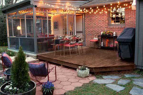 Adorable Indoor Outdoor Lighting Design #stringlight #garden #yard #decorhomeideas