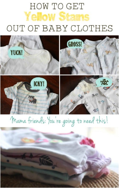 Baby Clothes Stain Remover #hacks #restore #houseitems #decorhomeideas