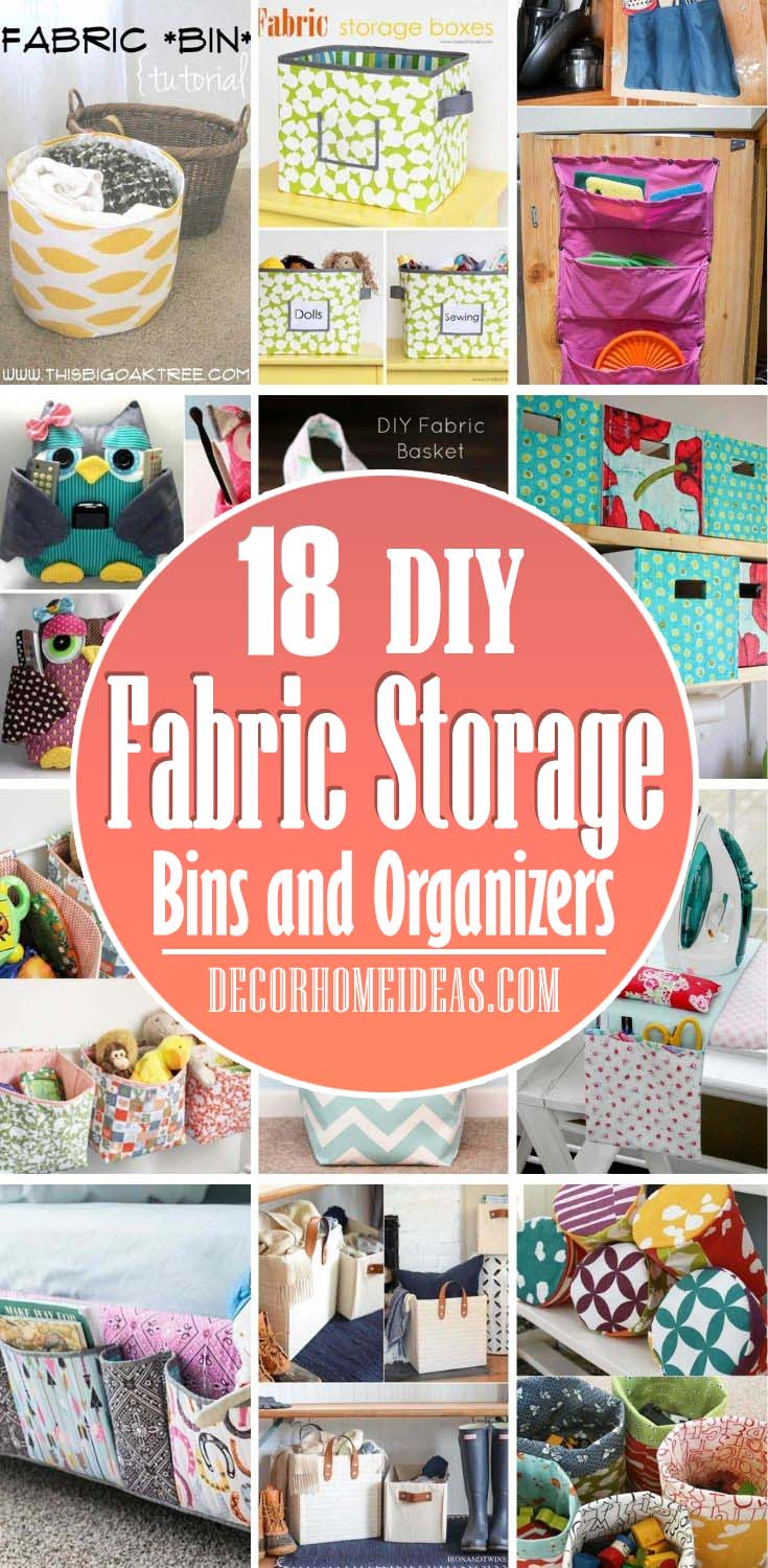 Best DIY Fabric Storage Bins And Organizers. Looking to Make your Own DIY Fabric Storage Bins? We have the best tutorials and most creative projects that you can do today! #decorhomeideas