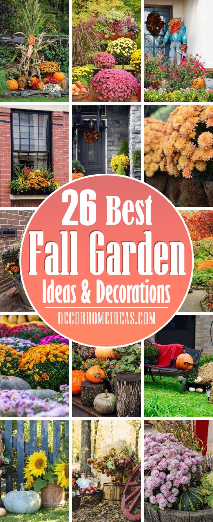 Best Fall Gardening Ideas And Decorations. Get the best ideas for extending the gardening season into autumn and find out what chores to complete to make sure your garden is the most beautiful in the neighborhood. #decorhomeideas