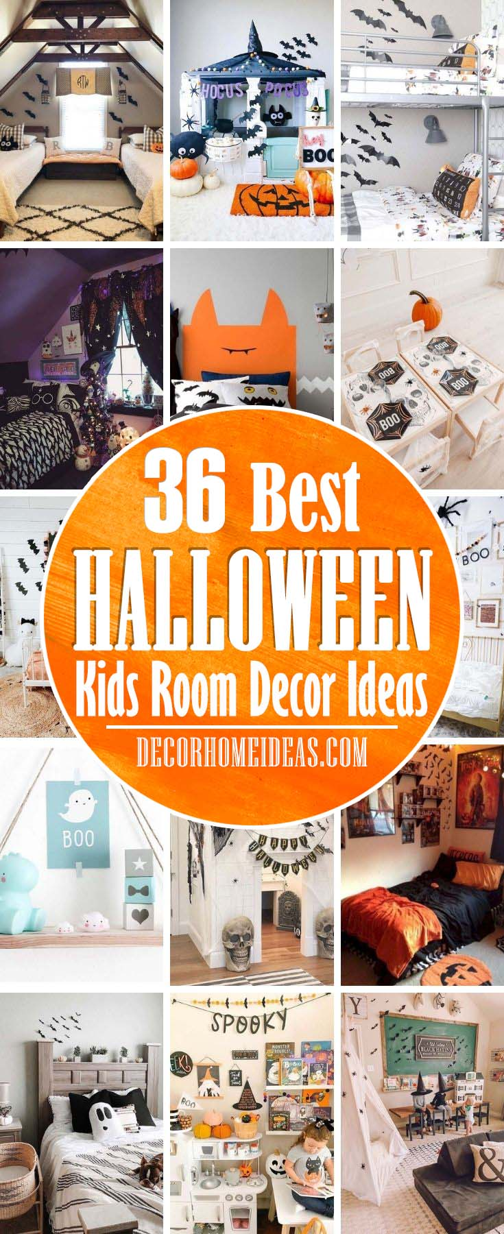 Best Halloween Kids Room Decor Ideas. These DIY Halloween decoration ideas feature the best for your kid's room, including witches, ghosts, and mummies, and will impress trick-or-treaters and party guests alike. #decorhomeideas
