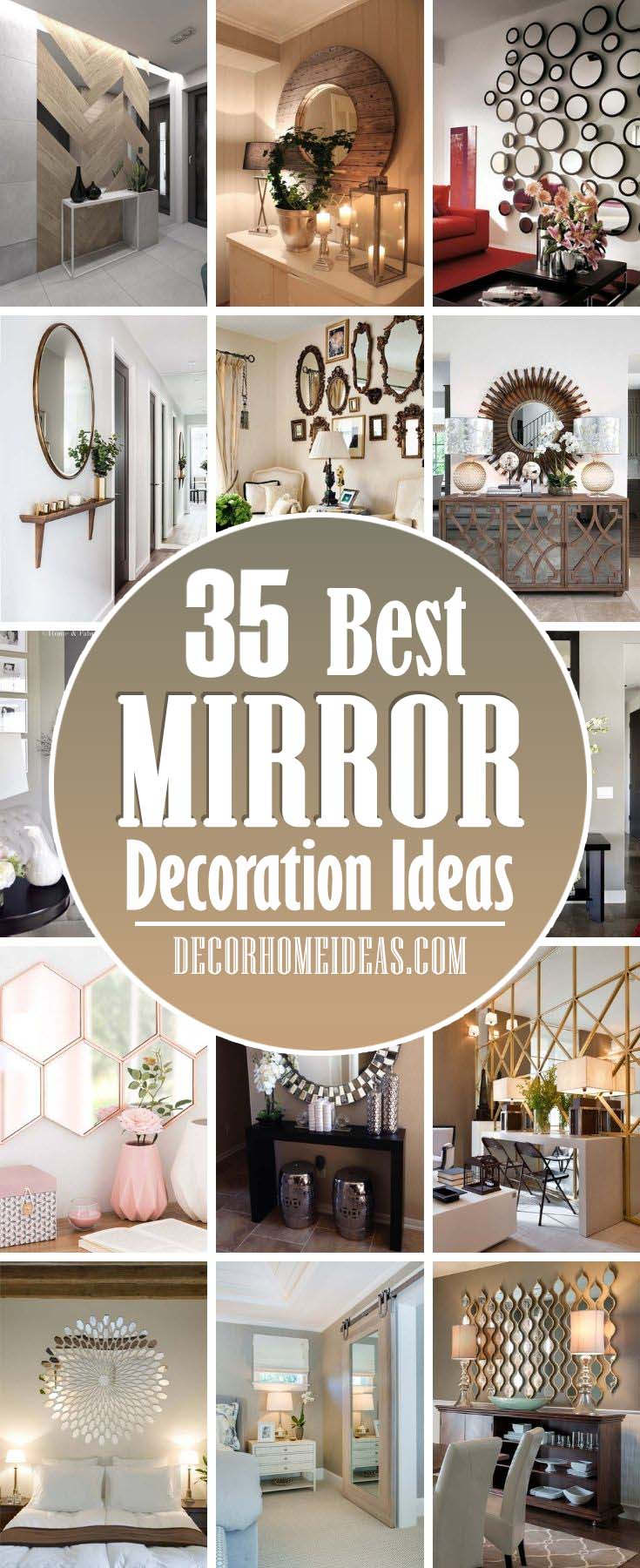 Best Mirror Decoration Ideas. Whether you are planning a renovation or you are in the process of decorating your home, there are many interesting and beautiful mirror ideas. #decorhomeideas