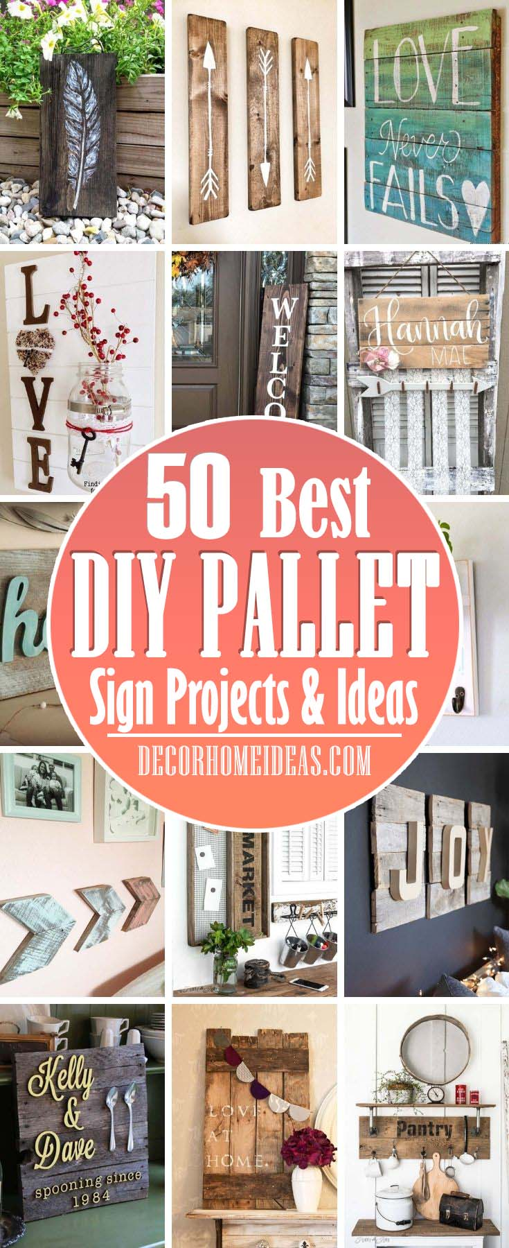 Best Pallet Sign Ideas. DIY pallet sign projects are super popular among people that like to repurpose and reuse items. Here are some of the best pallet sign ideas you can do in no time. #decorhomeideas