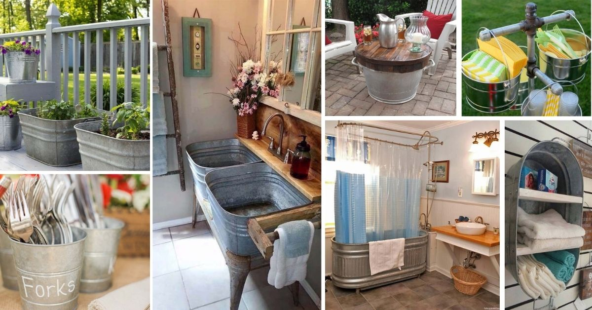 30 Fantastic Reused And Repurposed Galvanized Tub And Bucket Ideas Decor Home Ideas