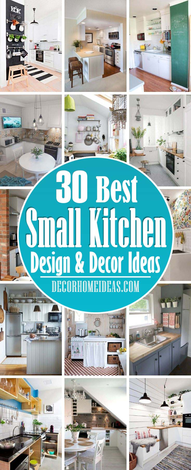 Best Small Kitchen Design And Decor Ideas. Having a small kitchen isn't the issue—it's having a cluttered kitchen that'll drive you insane. These decor ideas will maximize your space's efficiency. #decorhomeideas
