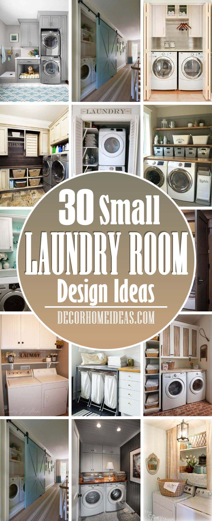 Best Small Laundry Room Design Ideas. If your home isn't blessed with a huge laundry room to wash and fold your clothes, don't worry. All of these room ideas—with built-in storage tips—will help you make the most of what you do have. #decorhomeideas