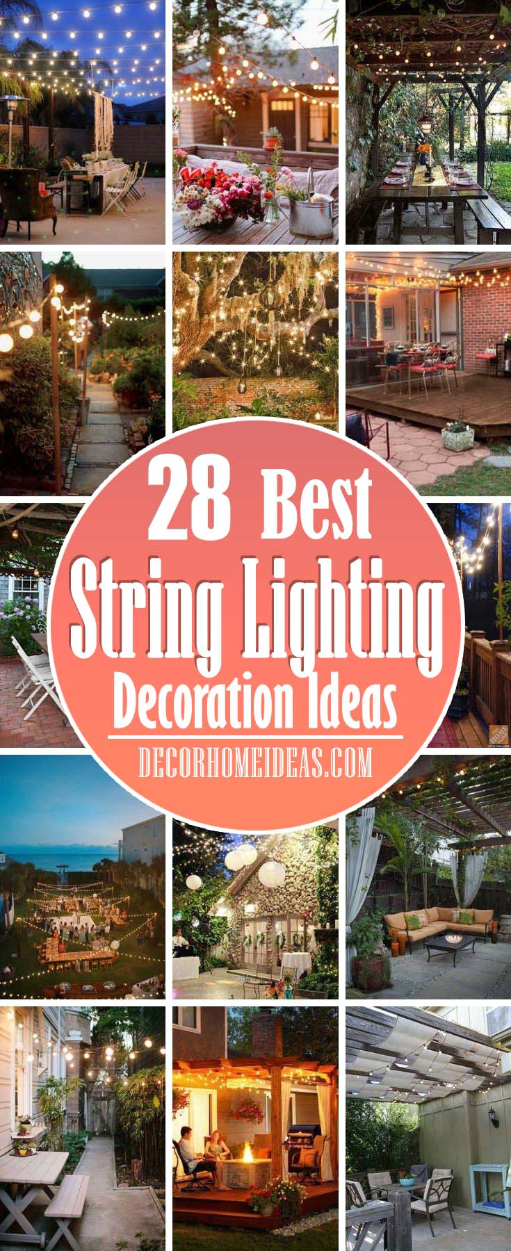 Best Yard Patio String Lighting Ideas. String lights aren't just for festive holidays. These bright, affordable mini-bulbs can add sparkle and enjoyment to your outdoor spaces, whatever the season.
