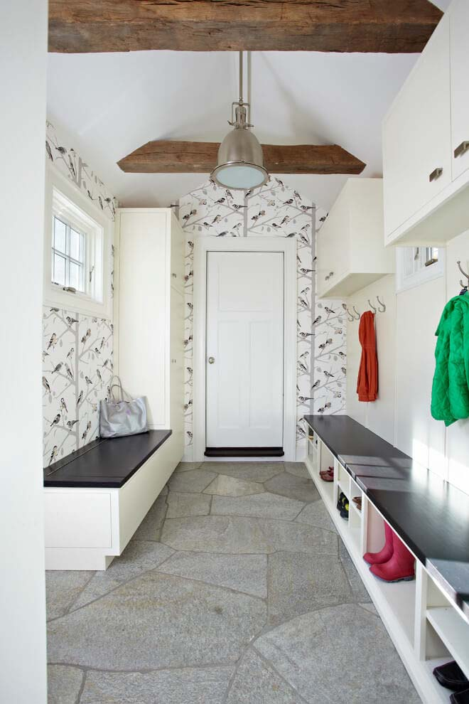 Cheerful Wallpaper Modern Day Cabinets #storage #mudroom #organization #decorhomeideas