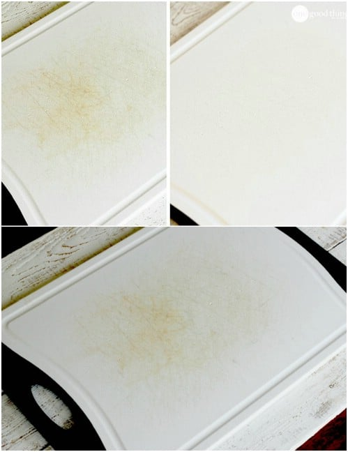 Chopping Board Stain Remover #hacks #restore #houseitems #decorhomeideas