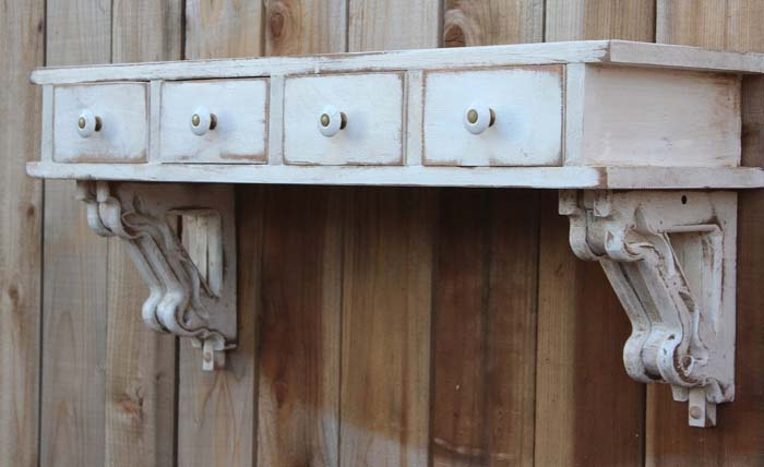 Corbel and Drawers Novelty Shelf #corbel #decoration #decorhomeideas