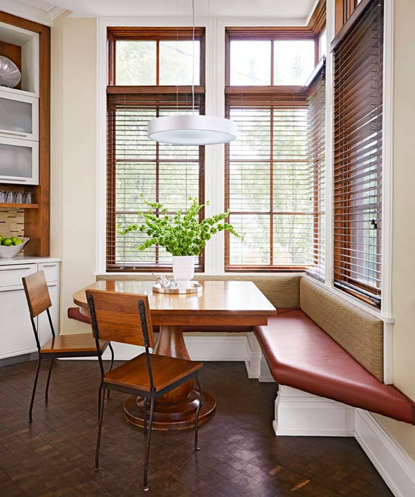 Corner Bench Meets Window Seat #kitchen #bench #decorhomeideas