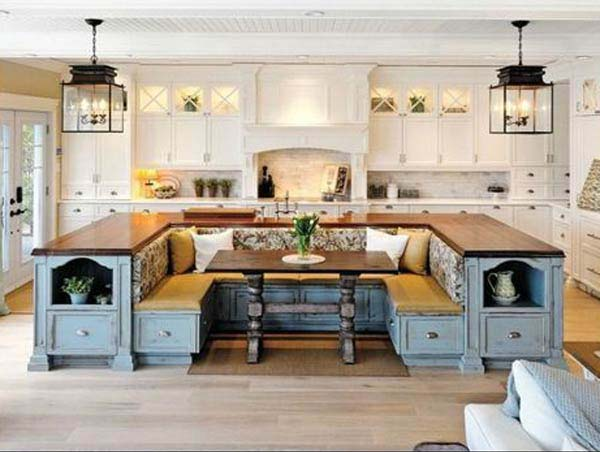 Creative U Shaped Kitchen Island Bench