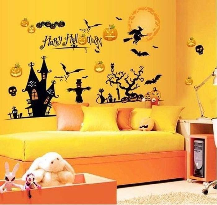 Cute Halloween Wall Art #halloween #kidsroom  #nursery #decorhomeideas