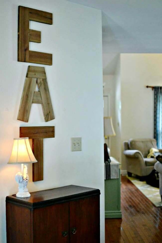 DIY Eat Sign #diy #pallet #sign #decorhomeideas