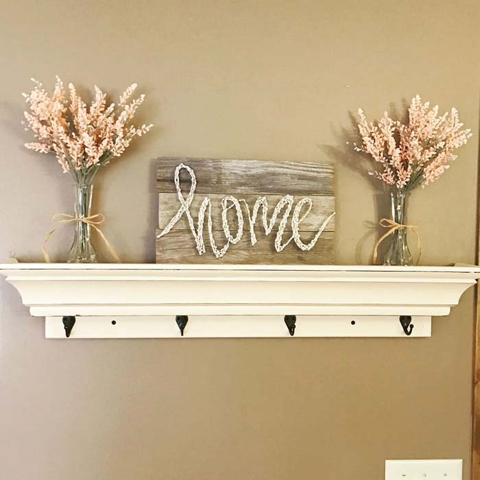 DIY Home String Art Barnwood Pallet Sign #diy #pallet #sign #decorhomeideas