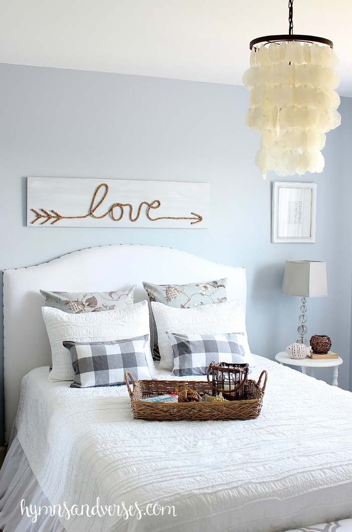 DIY Jute Rope Love Sign #diy #pallet #sign #decorhomeideas