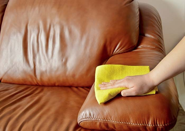 DIY Leather Furniture Cleaner #hacks #restore #houseitems #decorhomeideas