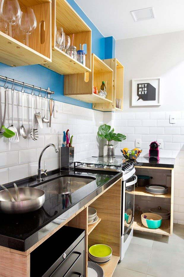 DIY Open Space Look #small #kitchen #design #decorhomeideas