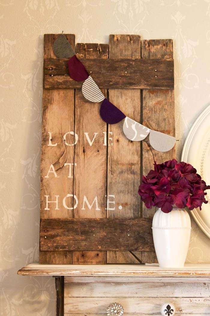 DIY Pallet Art #diy #pallet #sign #decorhomeideas