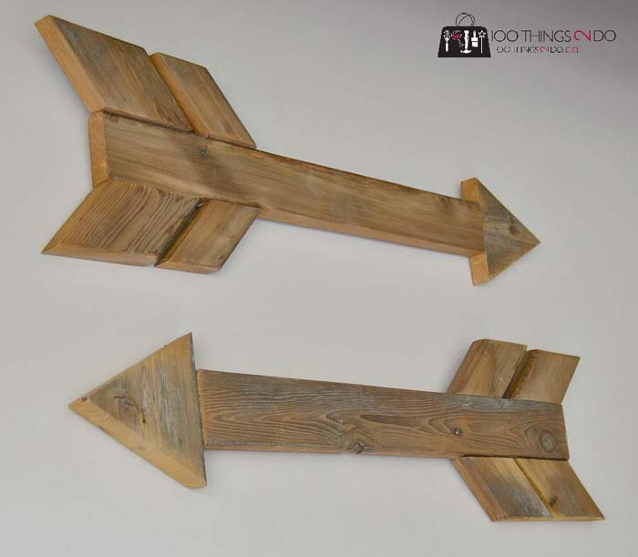 DIY Wood Arrows #diy #pallet #sign #decorhomeideas