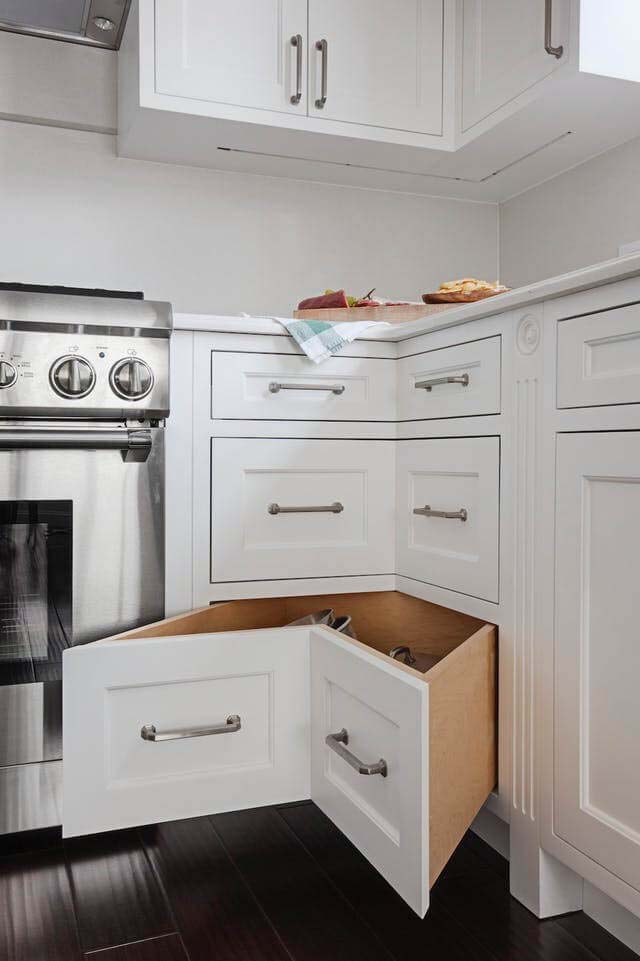 Drawers Specially Built for the Corners #storage #corner #organization #decorhomeideas