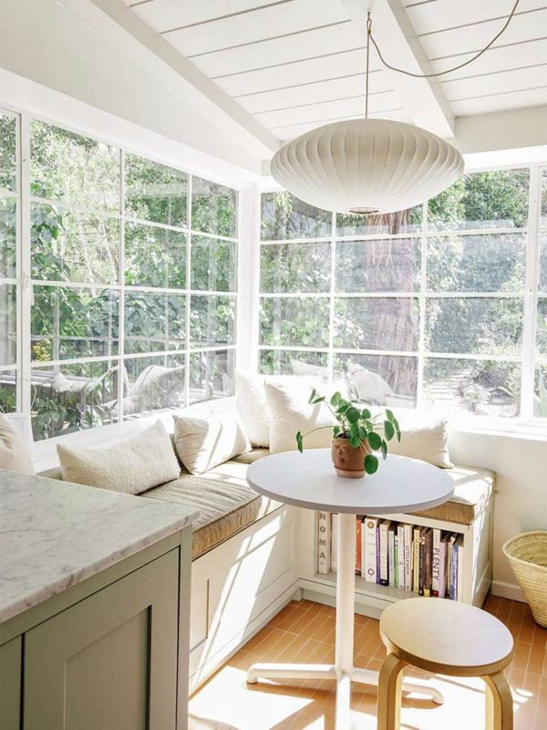 Dreamy Sunroom Seating Area #kitchen #bench #decorhomeideas