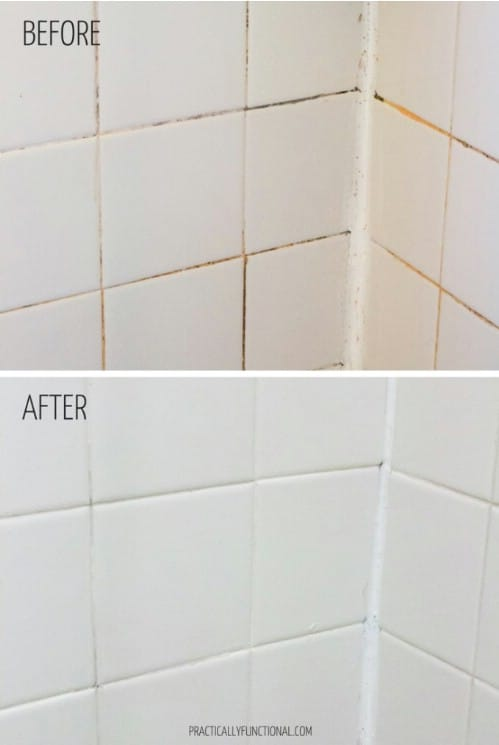 Effective Grout Cleaner #hacks #restore #houseitems #decorhomeideas