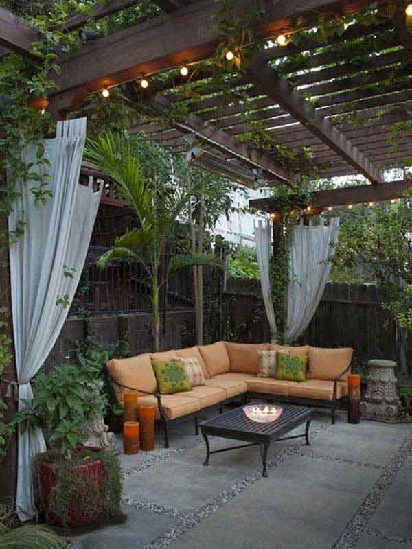 Elegant Pergola String Lights #stringlight #garden #yard #decorhomeideas