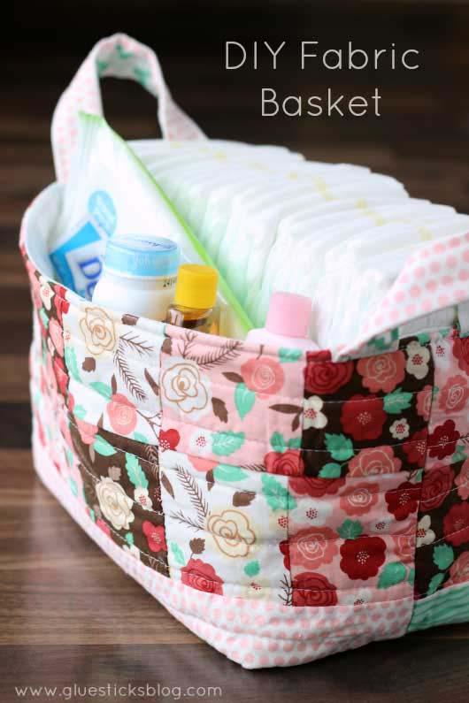 Fabric Diaper Bag #diy #fabric #organizers #storage #decorhomeideas